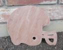 Wooden Football Helmet Wall Art Pediment 17x17 Natural