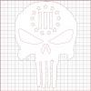 Punisher Three Percenter White Vinyl Decal 12x12