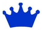 Princess Crown Blue Vinyl Decal 6x6