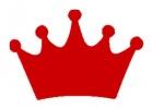 Princess Crown Red Vinyl Decal 6x6