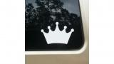 Princess Crown White Vinyl Decal 6x6