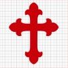 Cross Red Vinyl Decal 6x6