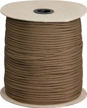 Marbles Parachute Cord Brown 1000 Ft knives BRK-RG027S