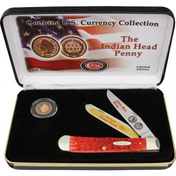 Case Cutlery Indian Head Penny Gift Set Knives CAIHPRPB