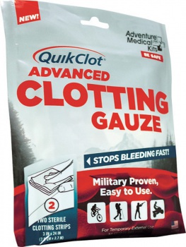 Adventure Medical Quik Clot Adv Clotting Gauze outdoor gear BRK-AD0016