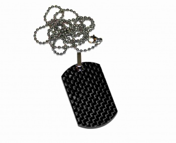 Bastion Pure Carbon Fiber Dog Tag knives BRK-BSTN203