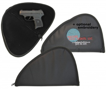 Soft Black Pistol Handgun Case with optional embroidery SOFT_BLACK_PISTOL_CASE_12X7-5