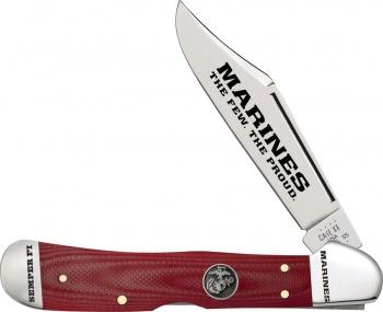 Case Cutlery Usmc Copperlock Red G10 BRK-CA13198