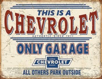 Tin Signs Chevy Only Garage BRK-TSN2200