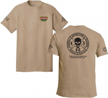 ESEE Training T Shirt Xl Brown knives BRK-ESTSBRNXL