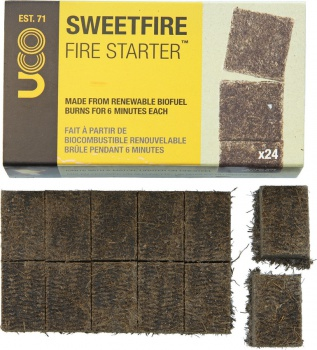 UCO Sweetfire Tinder Tabs 24 Pk outdoor products BRK-LMF00254