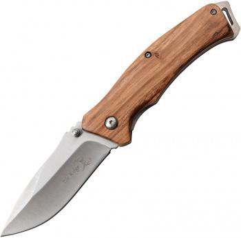 Elk Ridge Linerlock Zebrawood knives BRK-ERA936ZW