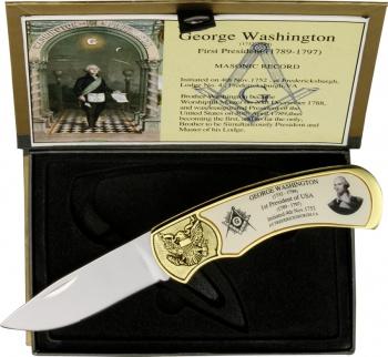 Miscellaneous George Washington Masonic Set knives BRK-M4222