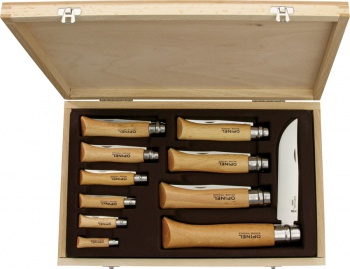 Opinel Ten Piece Set knives BRK-OP01311
