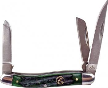 Roper Knives Stockman Green Bone Carbon BRK-RP0001CGB