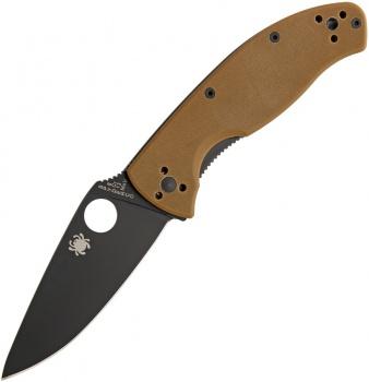 Spyderco Tenacious Linerlock Brown knives BRK-SC122GPBBN