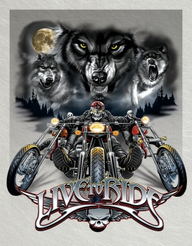 Tin Signs Live To Ride Wolves BRK-TSN1442