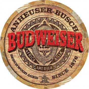 Tin Signs Budweiser Barrel End BRK-TSN2165