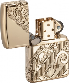 Zippo 2018 Lighter Of The Year Gold lights BRK-ZO03735