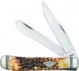 Case Cutlery Trapper Burnt Amber - BRK-CA80254