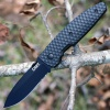 CRKT AUX Linerlock Black Serrated - BRK-CR1221K