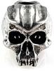 Schmuckatelli Co Cyber Skull Bead Pewter - BRK-SMUKCYP