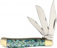 Frost Cutlery Peanut Green Abalone - BRK-FCSW1073ABG