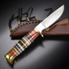 Frost Cutlery Trophy Stag Hunter Leather - BRK-FTS207LTHR