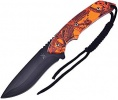 Frost Cutlery Fixed Blade Orange Camo - BRK-FTX022OR