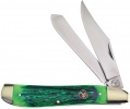 Frost Cutlery Dog Leg Trapper Green Bone - BRK-FWT602GJB