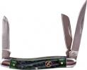 Roper Knives Stockman Green Bone Carbon - BRK-RP0001CGB
