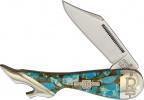Rough Ryder Leg Knife Amber Turquoise - BRK-RR2002