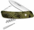Swiza C01 Button Lock Green Camo - BRK-SZA102050