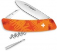 Swiza C01 Button Lock Orange Camo - BRK-SZA102060