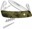 Swiza C03 Button Lock Green Camo - BRK-SZA302050