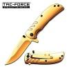 Tac Force Framelock A/O Gold - BRK-TF847GD