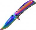 Tac Force Framelock A/O Rainbow - BRK-TF847RB