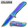 Tac Force Framelock A/O Rainbow - BRK-TF861RB
