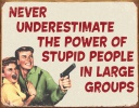 Tin Signs Stupid People - BRK-TSN1553