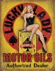 Tin Signs Lucky Lady Motor Oils - BRK-TSN1998