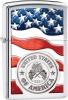 Zippo American Stamp on Flag - BRK-ZO11983