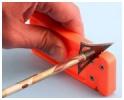 AccuSharp 013 Broadhead Sharpener & Wrench 2 34 & 5 Blade Sharpener