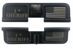 Double Sided 1* Sheriff / USA Flag AR-15 Laser Engraved Ejection Port Dust Cover