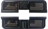 Double Sided Infidel USA AR-15 Laser Engraved Ejection Port Dust Cover