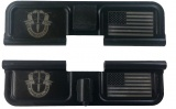 Double Sided Special Forces / USA Flag AR-15 Laser Engraved Ejection Port Dust Cover