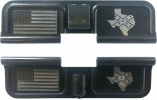 Double Sided Texas Confederate Stars and Bars Laser Engraved Ejection Port Dust Cover