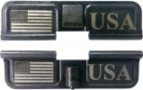 Double Sided USA Flag AR-15 Laser Engraved Ejection Port Dust Cover
