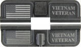 Double Sided Vietnam Veteran / USA Flag AR-15 Laser Engraved Ejection Port Dust Cover