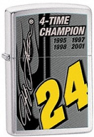 Zippo Jeff Gordon 4 Time Champion lighters 24689