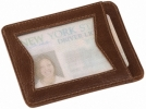Zippo I.D. CARD CASE BROWN LEATHER - 122214